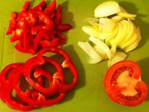 poivron oignon tomates