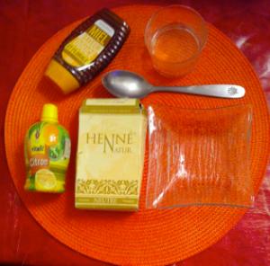 masque au henné et au citron pour le visage